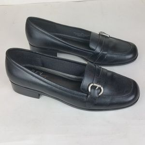 Life Stride Black Delaware Buckle Detail Loafers 8